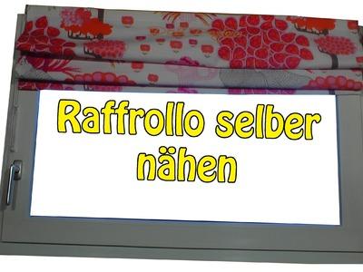 DIY | Faltrollo.  Raffrollo selber nähen | Nähen für Anfänger | Anleitung