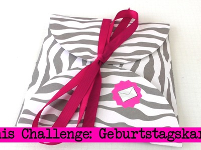 DIY Inspiration Challenge #18 Geburtstagskarten | Kathis Challenge | Tutorial - Do it yourself