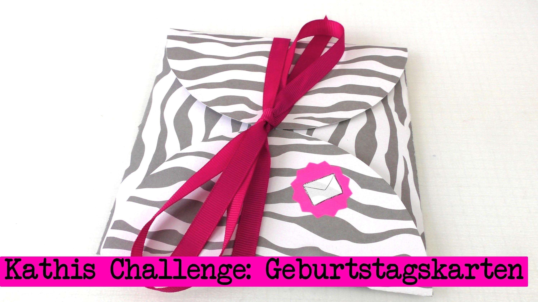 DIY Inspiration Challenge #18 Geburtstagskarten | Kathis Challenge | Tutorial - Do it yourself