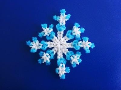 DIY Schneeflocke Weihnachtsdeko Eiskristall Snowflake Weihnachten Loom Bands Anleitung