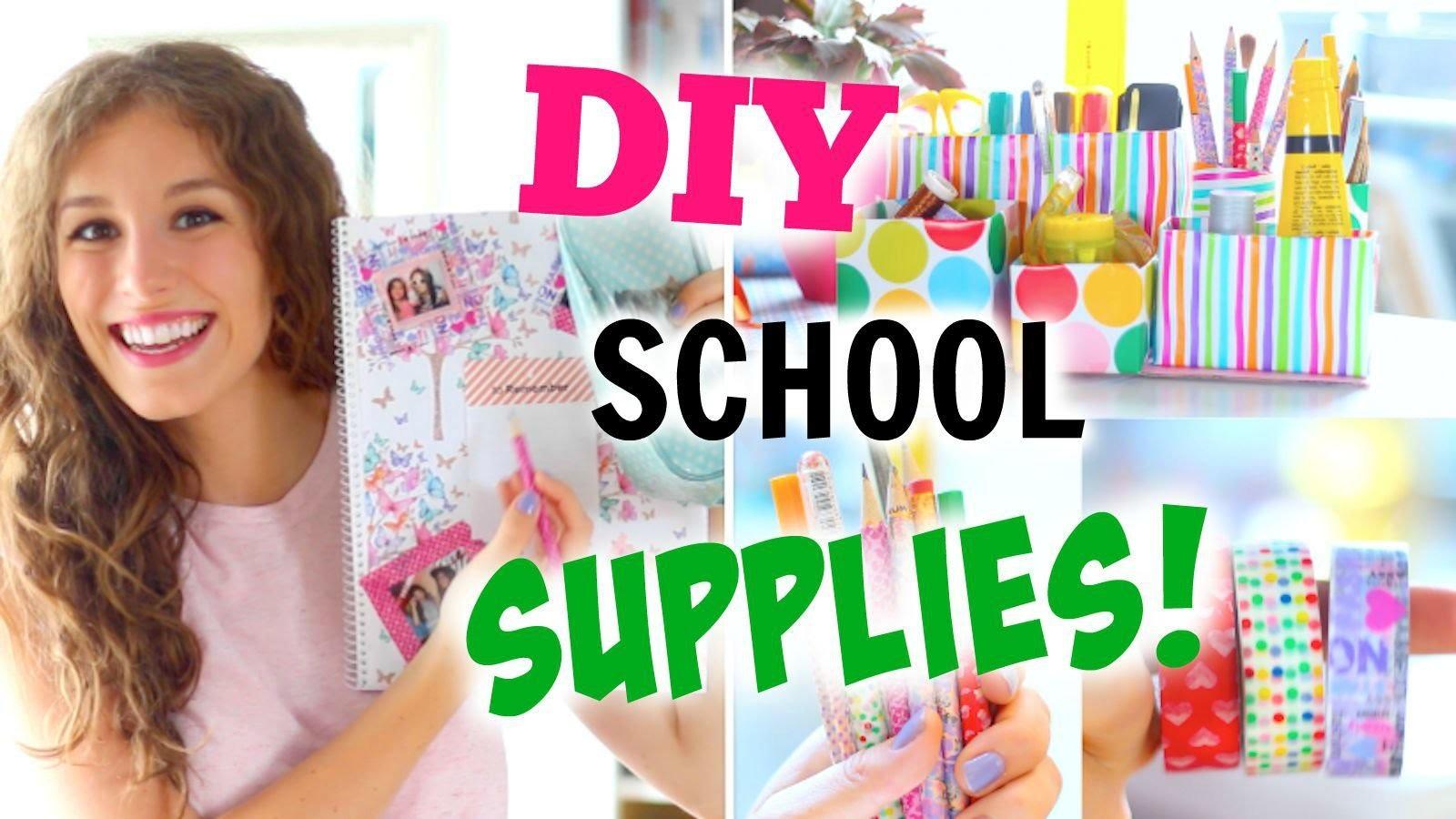 DIY SCHOOL SUPPLIES ♡ BACK TO SCHOOL! College-Blöcke|süße Stifte + Organizer |BarbieLovesLipsticks