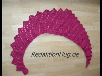 Häkeln - Schal Tuch Drachenschal Drachenschwanz - Veronika Hug - ONline-Garne