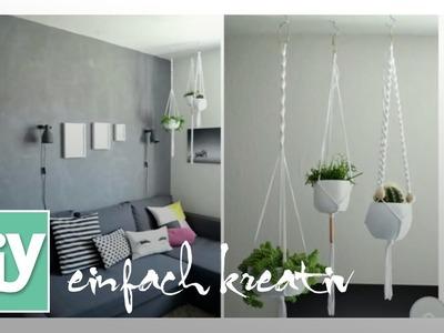 Makramee-Blumenampel | DIY einfach kreativ