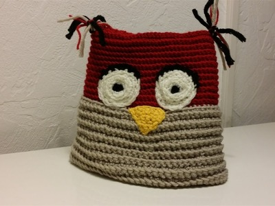 Mütze häkeln für Kinder im süßen Eulen Design - Teil 1