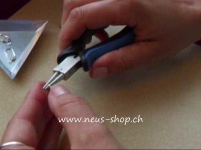 Ohrringe Herz mit Buggis, murano Herz türkis selbst machen www.neus-shop.ch