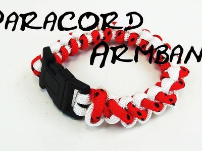 Paracord bracelet tutorial zweifarbig gestreift basic eifaches Armband selber machen Anleitung
