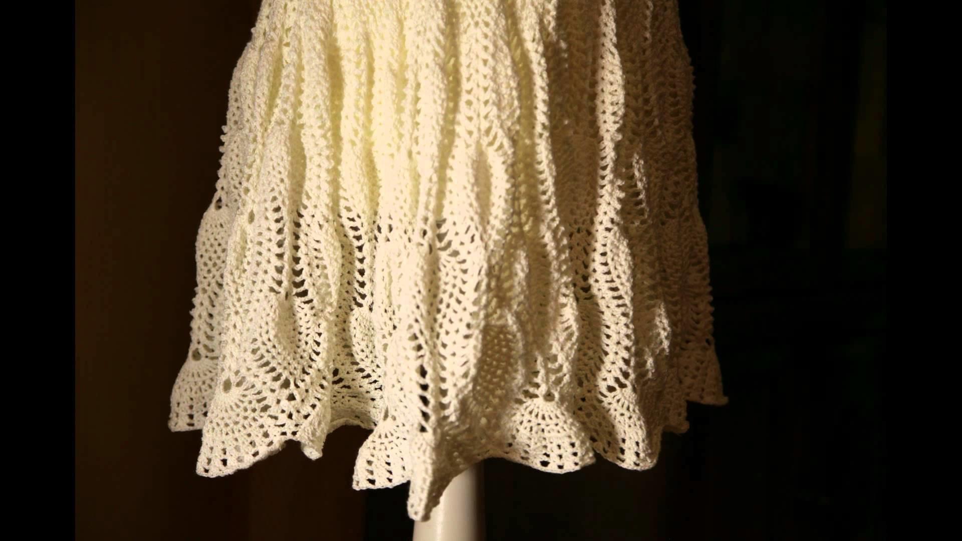 Pineapple Pattern Dress - HaekelnundStricken- Ananasmuster, Kleid