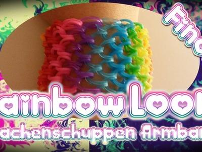 Rainbow Loom Drachenschuppen Armband Anleitung Deutsch. Loom Bands
