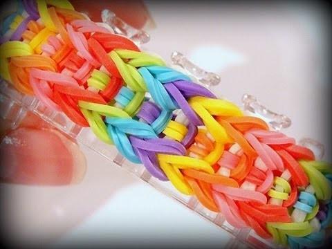 Rainbow Loom Monster Tail Armband. Arrow Bracelet. Loom Bandz Anleitung (Anleitung deutsch)