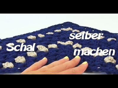 Schal häckeln Dreieckstuch - DIY Schal für Übergangszeit