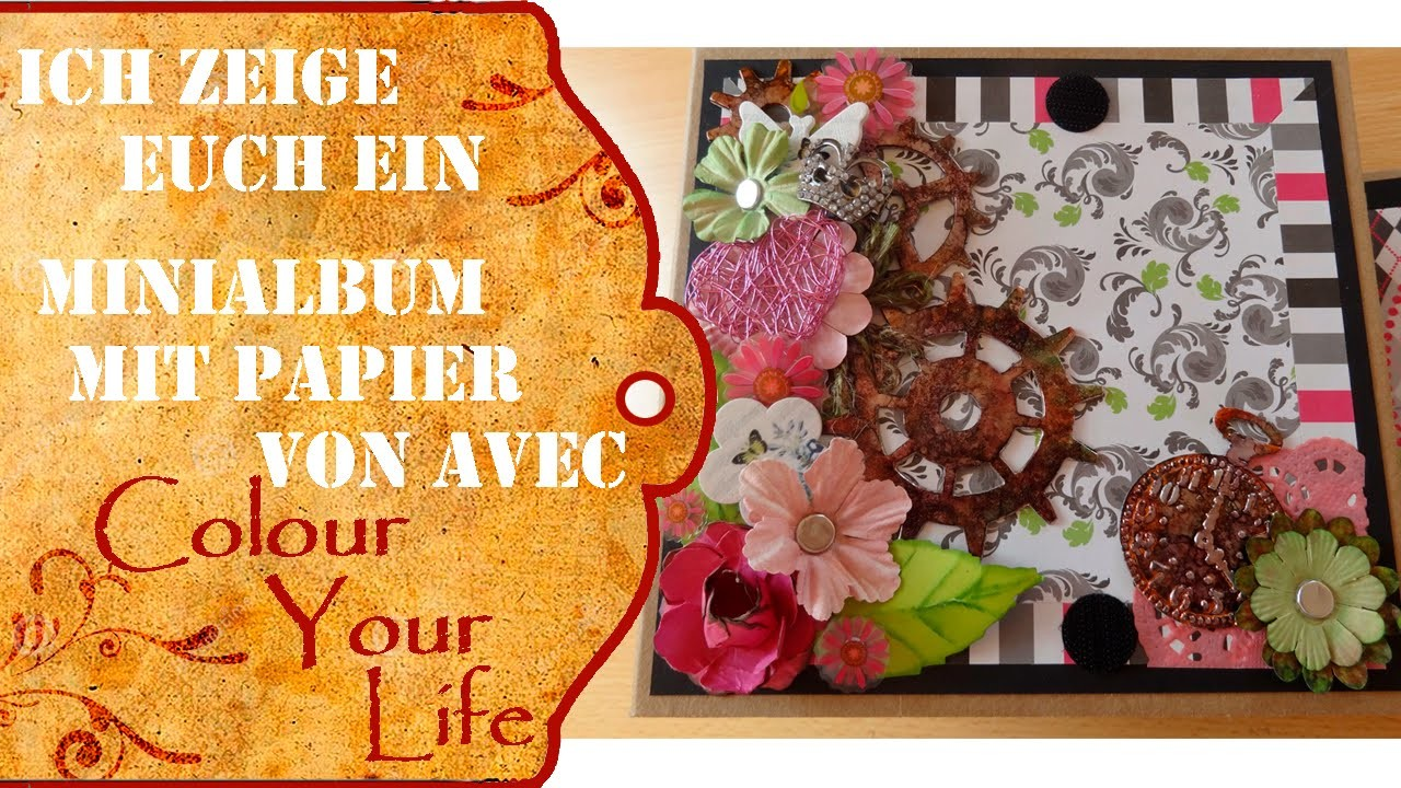 Scrapbooking Fotoalbum 1 Deutsch -  Serienstart mit Papier von Avec