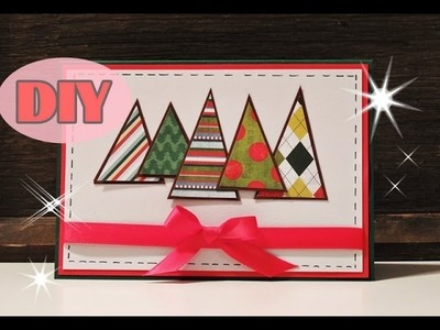Weihnachtskarten selber basteln #2 - Weihnachtsbaum - Christmas Card DIY