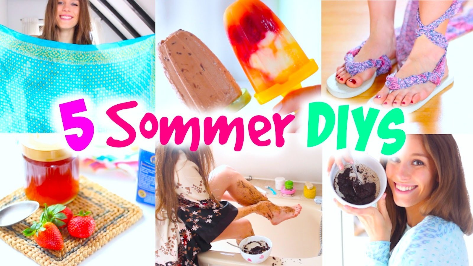 5 easy SOMMER DIY IDEEN! Nutella Eis|rückenfreies Top|Erdbeer Maske und mehr| BarbieLovesLipsticks