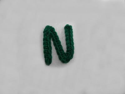 ABC Häkel-Buchstaben N