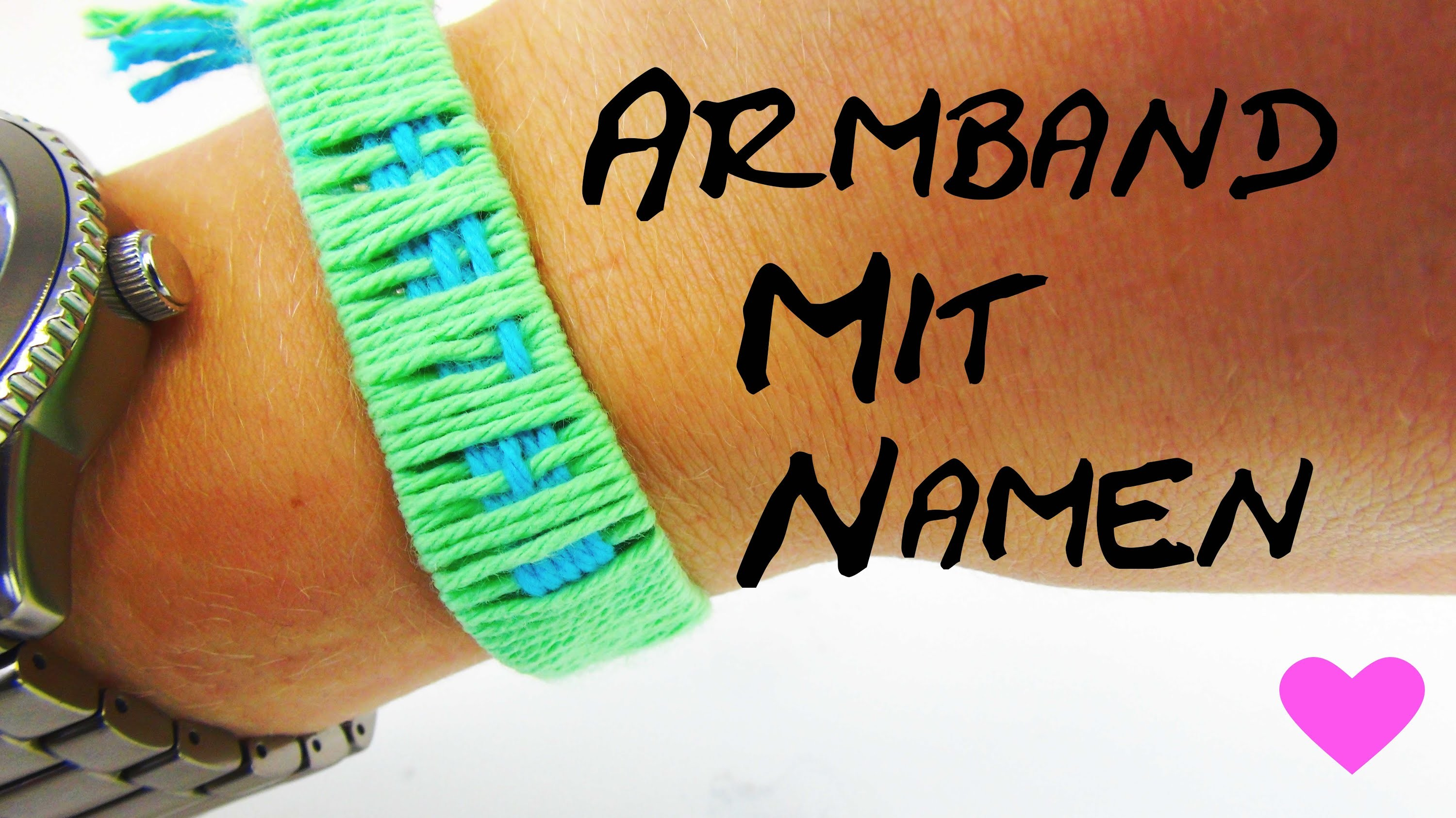 Armband mit Namen selber machen DIY Anleitung How To make name bracelets