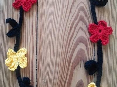 Blumenkette häkeln, Deutschland, WM, Fankette, schwarz,rot,gelb
