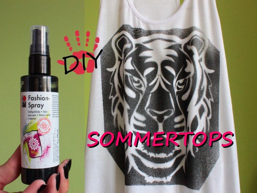DIY- lockeres Sommertop mit Muster. Fashion Spray Part 1