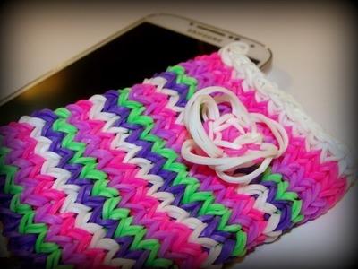 Handyhülle Smartphone-Hülle mit Blume Variante 2 - Rainbow Loom, Loom Bands