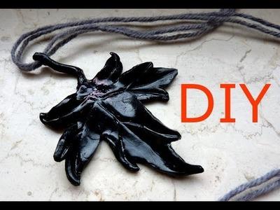 Herbstliches DIY - Kettenanhänger Ahornblatt aus FIMO