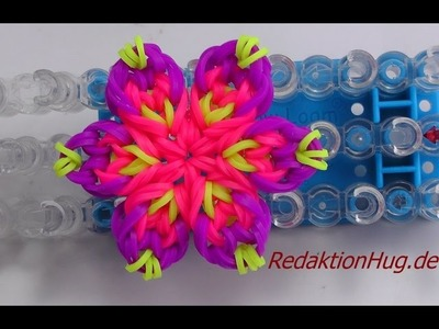 Loom Bands mit Rainbow Loom Anleitung Deutsch Blume K - Veronika Hug