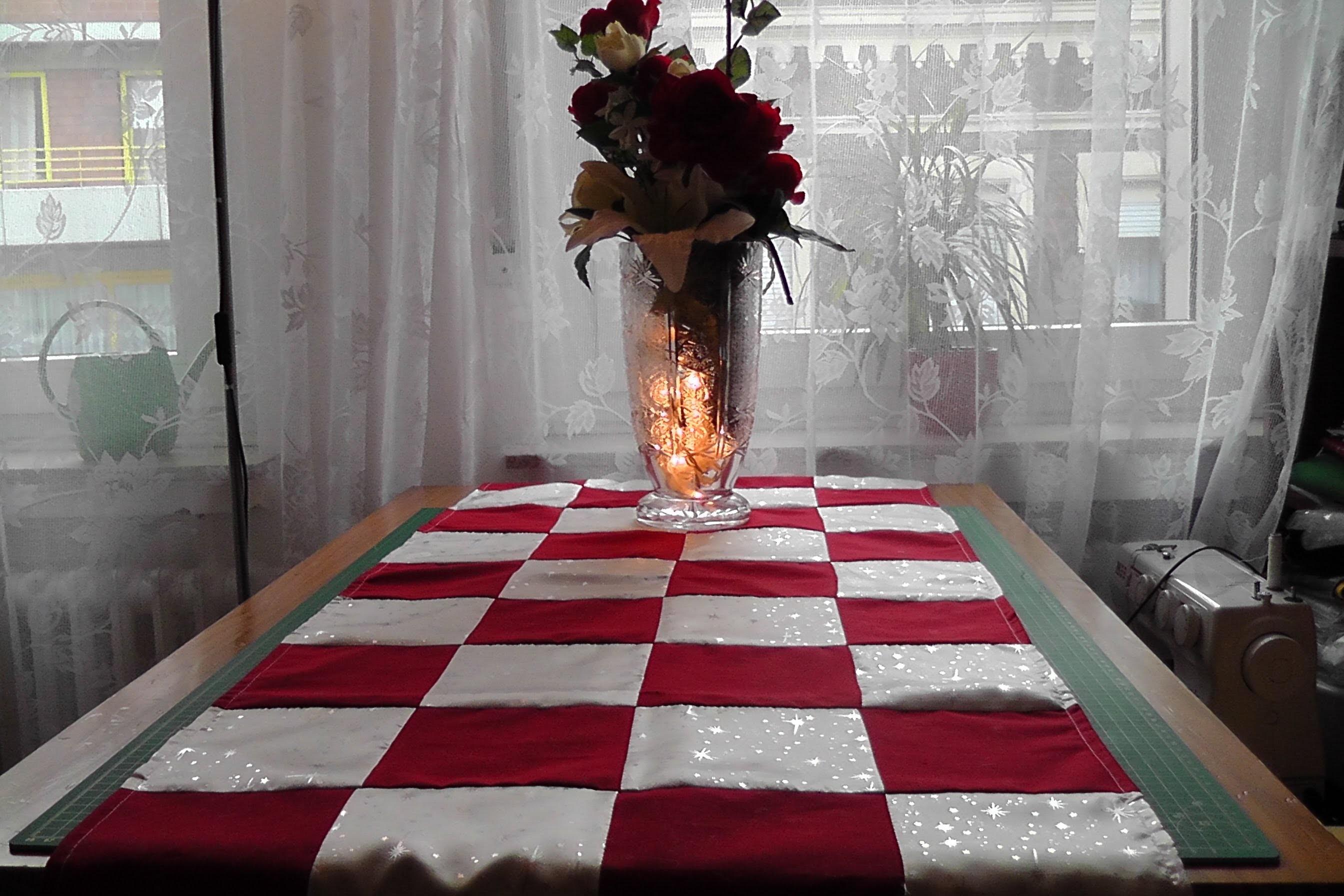 Patchwork; Weihnachtstischdecke , Tischläufer  nähen