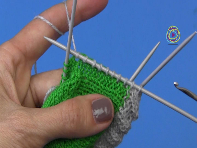 Projekt: Sockenstricken hier Maschenaufnahme aus der Fersenwand 5.  Teil