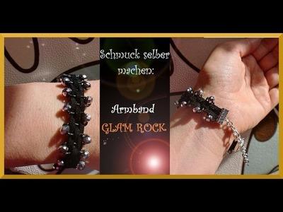 Schmuck selber machen: gewebtes Armband mit Glasschliffperlen