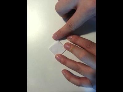 Aufblasbaren Würfel aus Papier basteln