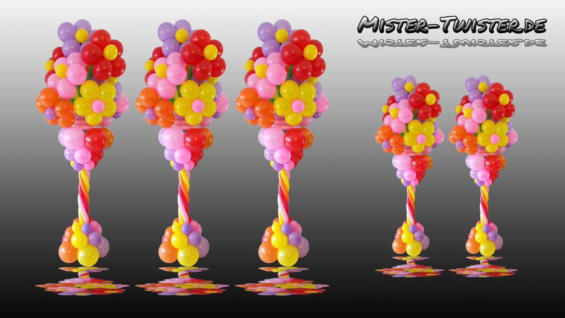 Balloon Flower Column, Vase, Decoration, Ballon Blume, Blumenvase, Säule, Dekoration