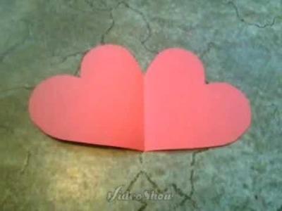 Basteln  ♥  Herzkarte für  Muttertag