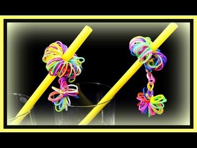 Basteln mit Strohhalmen und Loom Bands - Partydeko selber machen - Basteln mit Kindern