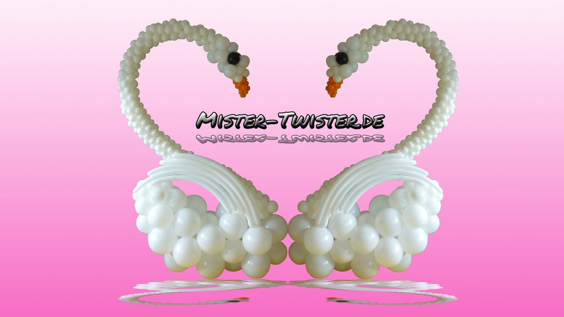 Big balloon swan, decoration, wedding, großer Ballon Schwan, Dekoration, Hchzeit