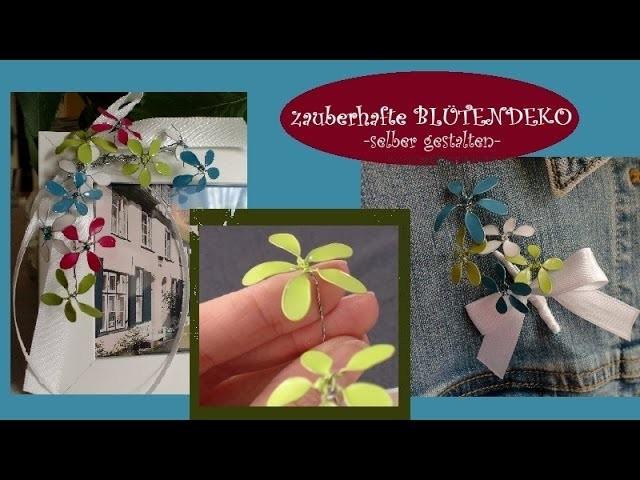 Blüten aus Draht und Nagellack selber machen