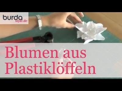 Burda style – Deko: Blumen aus Plastiklöffeln