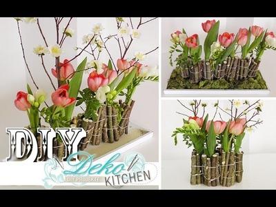 DIY: Ausgefallene Blumendeko mit Holz selber machen | Deko Kitchen