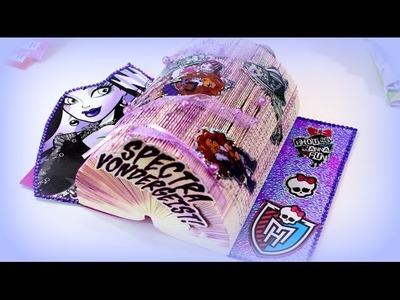 DIY Bastelideen Basteln mit Büchern - Monster High Tischdeko Kindergeburtstag