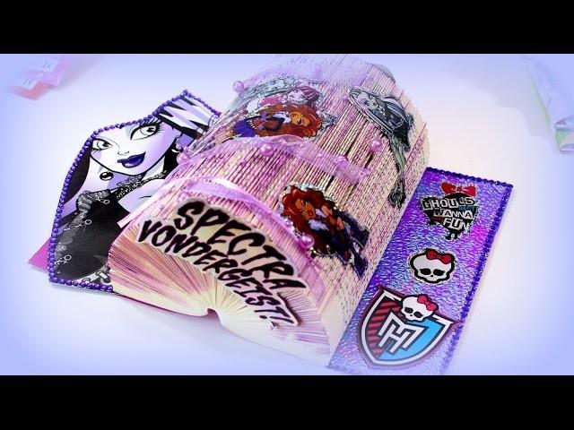 Diy Bastelideen Basteln Mit Buchern Monster High Tischdeko