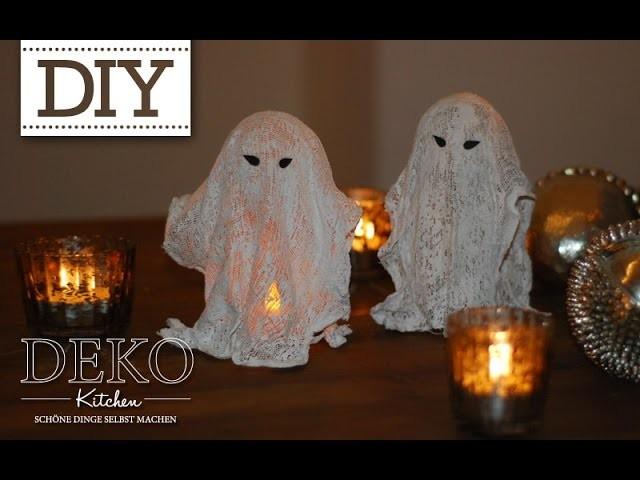 diy coole deko halloween gespenster selber machen deko. Black Bedroom Furniture Sets. Home Design Ideas