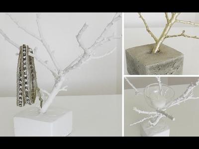 DIY: Deko-Zweig als Schmuckbäumchen oder Teelichthalter selber machen | Deko Kitchen