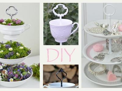 DIY - Etagere aus altem Geschirr .romantische Deko, Vintage, Shabby Chic