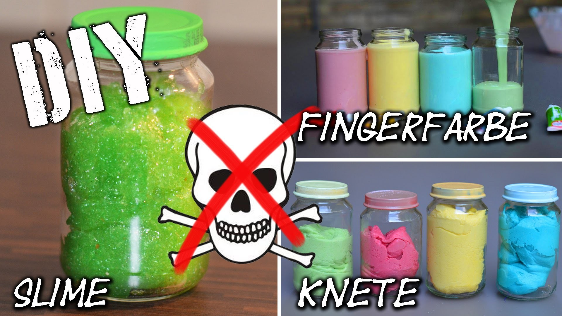 DIY Fingerfarbe – Slime – Knete super easy selbst gemacht | KIDS | dough | finger paint | mamiblock