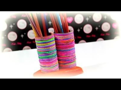 DIY Ideen Loom Bands Play-Doh | Stiftebox selber basteln | Hobby selber machen | Tutorial deutsch