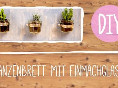 DIY mit Nina Moghaddam: Pflanzenbrett mit Einmachgläsern