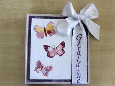 Geschenk-Idee: individuelles Fotoalbum basteln | Cover dekorieren mit Schmetterlingen