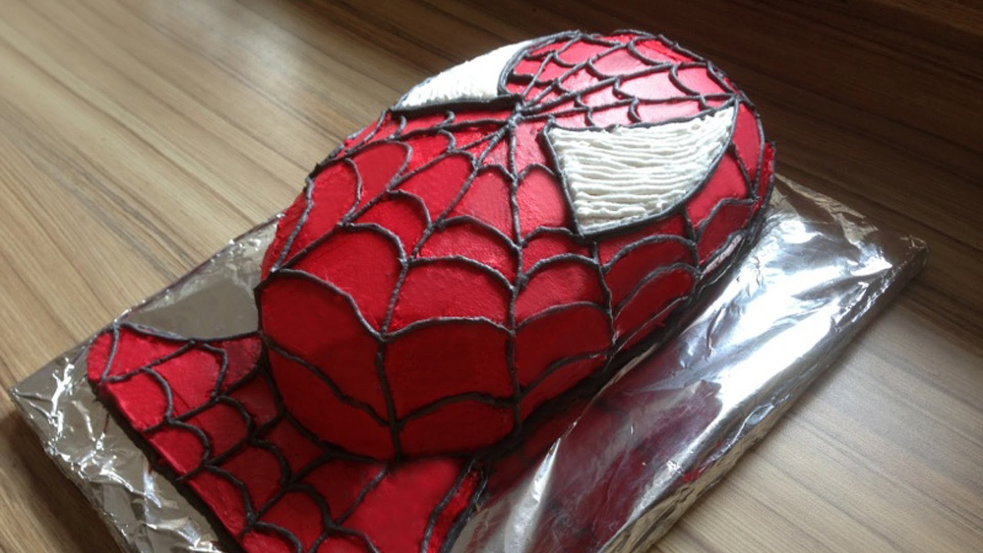 how to make a spiderman cake spider man torte selber machen tutorial. Black Bedroom Furniture Sets. Home Design Ideas