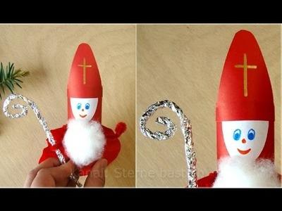 Nikolaus basteln - Weihnachtsbasteln - Weihnachtsmann - Upcycling