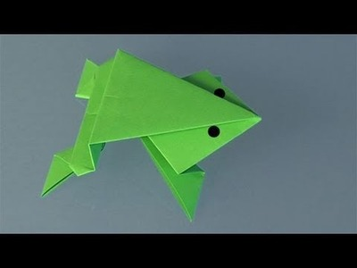 Origami Frosch. Origami Papierfaltkunst lerner