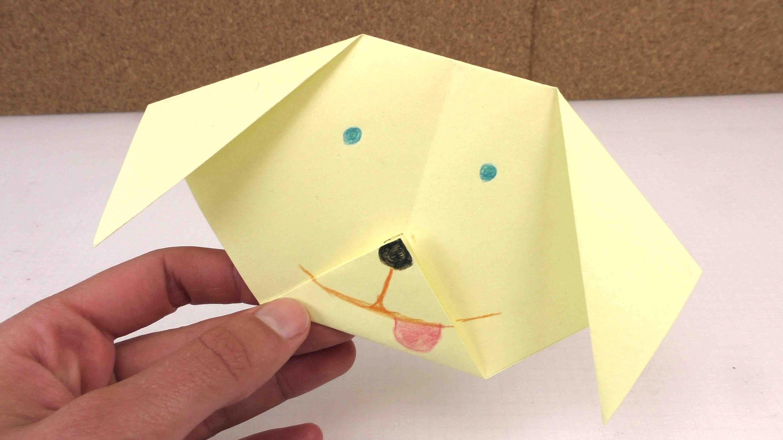 Origami Hund leicht selber machen - ganz einfach einen Hund aus Papier falten - Anleitung deutsch