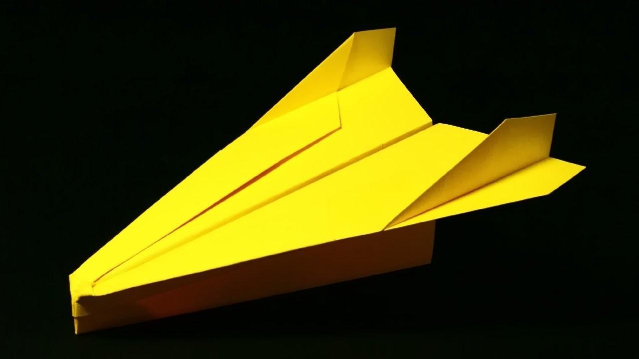 Papierflieger falten - Basteln - Papier falten - Beste Papierflieger der Welt - Rekord | Spaniard