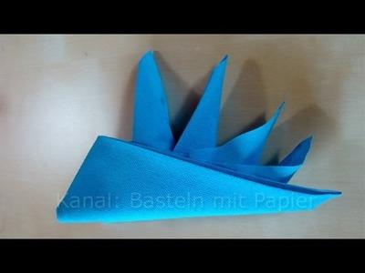 Papierservietten falten: Schiffchen z.B. für Geburtstag